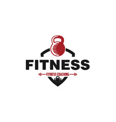 fitness badge logo designs inspiration isolated vector image