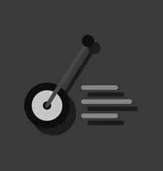 Flat icon design kids wheel and stick in sticker vector