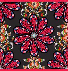 Floral wedding decorative elements seamless vector