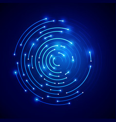 futuristic connection circle connected cyber line vector image
