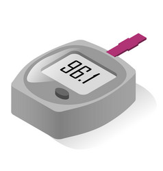 Glucometer realistic icon glucose meter monitor vector