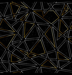 gold color triangle pattern with grunge effect vector image