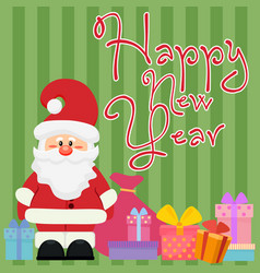 happy new year greeting and vector image