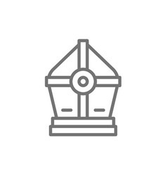 holy pope hat line icon vector image