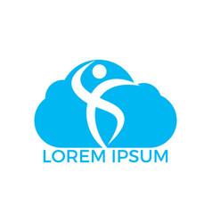 human cloud logo design health care logo sign vector image