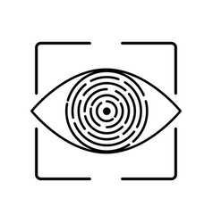 iris recognition biometric identification vector image