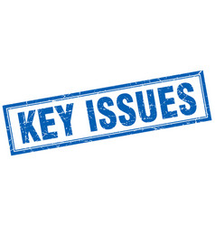 Key issues square stamp vector