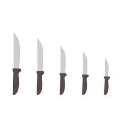 knives size scale variability kitchen tools vector image