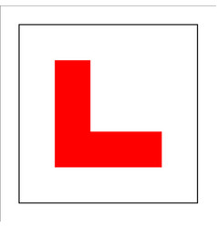 Learner driver plate sign drive beginner symbol vector