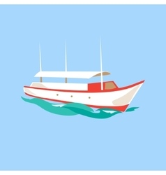 Leisure ship on water vector