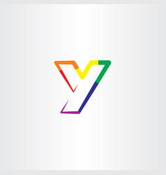 letter y colorful symbol design sign vector image
