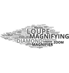 Loupe word cloud concept vector