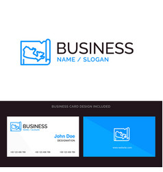 map world canada blue business logo and business vector image
