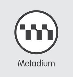 Meta - metadium the logo money or market vector