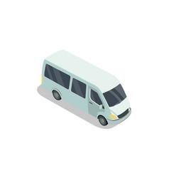 minivan car on white vector image