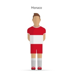 Monaco football player soccer uniform vector