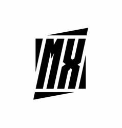 mx logo monogram with modern style concept design vector image