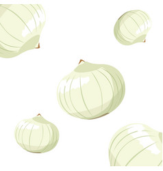 Onions fresh vegetable white background vector