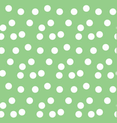 pastel green background scattered dots polka vector image