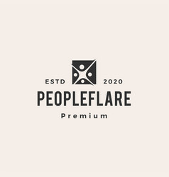 people flare light hipster vintage logo icon vector image