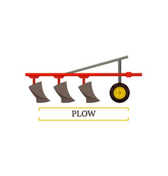plow plowing machinery poster vector image