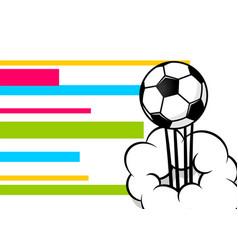 Pop art football ball poster vector