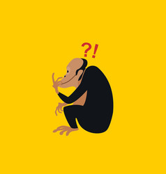 primate is thinking vector image