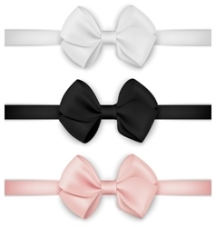 Realistic bow set Template for design vector