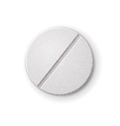 Realistic round tablet with filler vector
