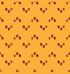 Red sesame seeds icon isolated seamless pattern on vector
