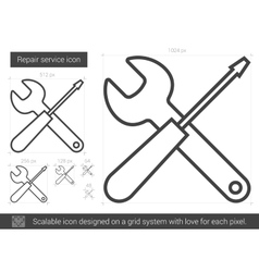 Repair service line icon vector image