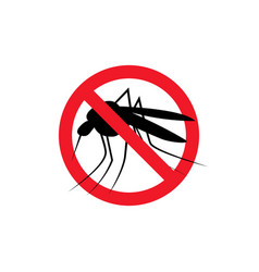 repellent mosquito stop sign icon malaria pest vector image
