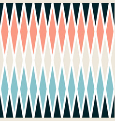 Seamless pastel colors geometrical rhombus pattern vector