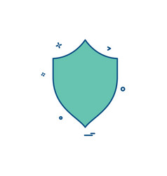 security badge saftey protect icon vector image
