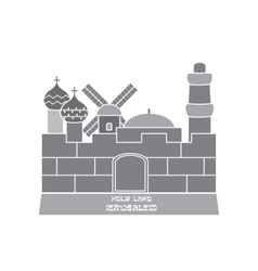 Silhouette of the Old City of Jerusalem vector