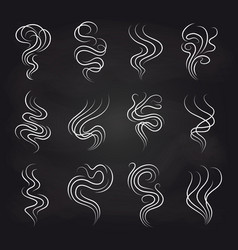 Smoke smell icons on blackboard vector