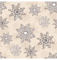 Snowflake Christmas seamless pattern vector