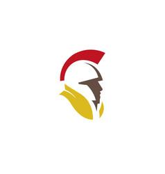 Spartan helmet warrior head logo icon vector