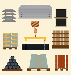 Storage of construction material vector