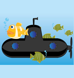 submarine of the black colour vector image