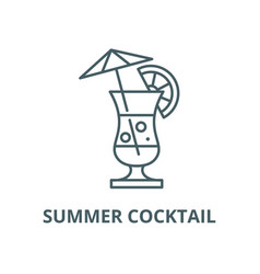 summer cocktail line icon linear concept vector image