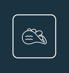 tacos icon line symbol premium quality isolated vector image