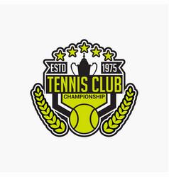 Tennis club badge logo-5 vector