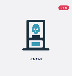 Two color remains icon from museum concept vector