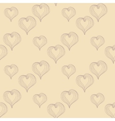 Abstract Hearts on a beige background vector image vector image