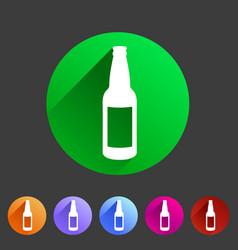 craft beer bottle template vintage brewery bottles vector image