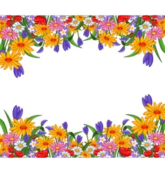 flowers for you design vector image