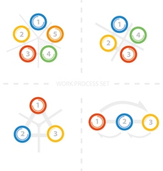 Four set of colorful design for workflow layout di vector image