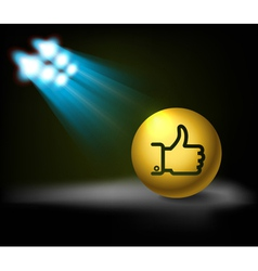 Lamp and like symbol vector