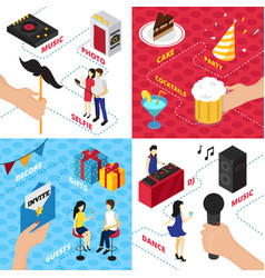 party elements design concept vector image